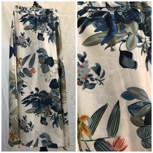Boho Tropics light Flowy Maxi Skirt  Size Med/Lrg